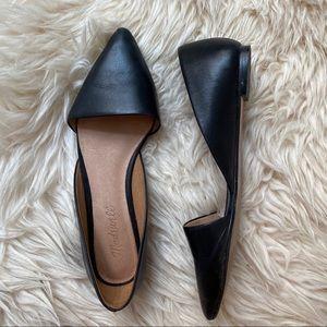 Madewell Lydia Black Pointy Toe Flats